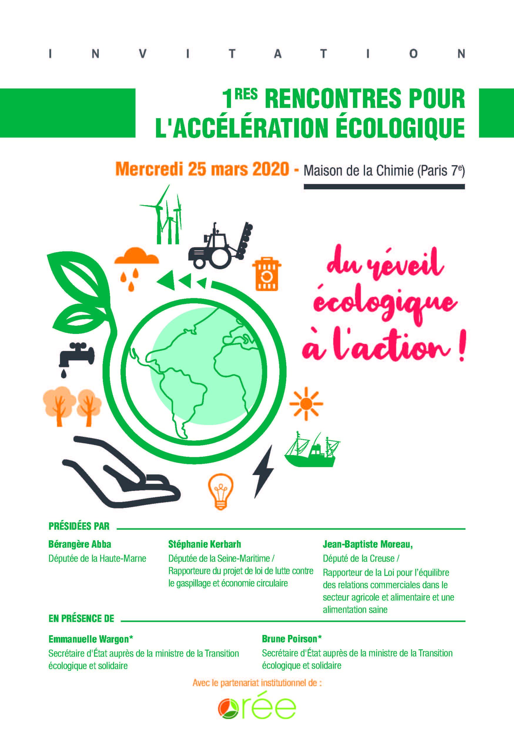 1res rencontres pour l'accélération écologique